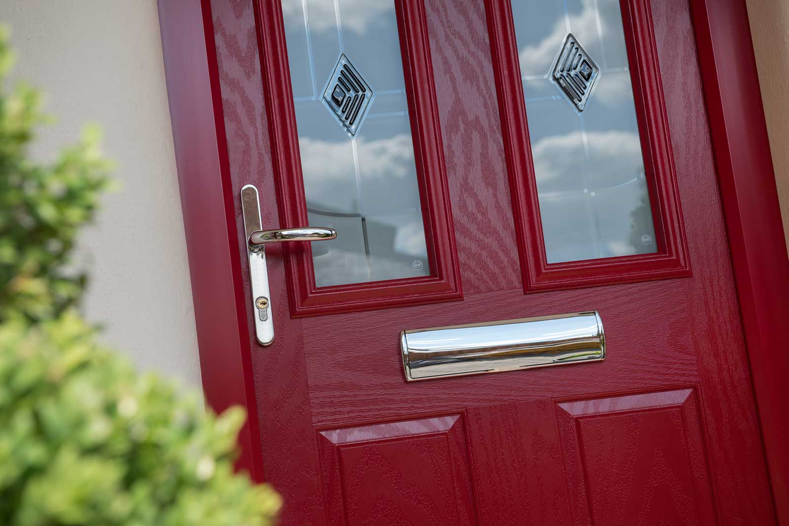 red entrance doors essex